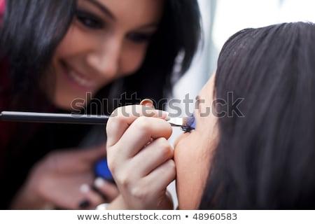 poeder · make-up · gezicht · portret · aantrekkelijke · vrouw · cosmetische - stockfoto © juniart
