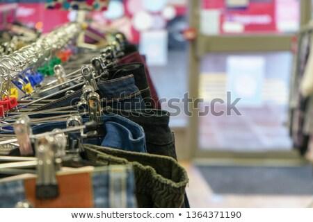 pchli · targ · sklep · używany · dżinsy · sprzedaży · miejscowy - zdjęcia stock © mtkang