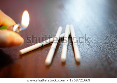 Euro cigarette burnt out Stock photo © unikpix
