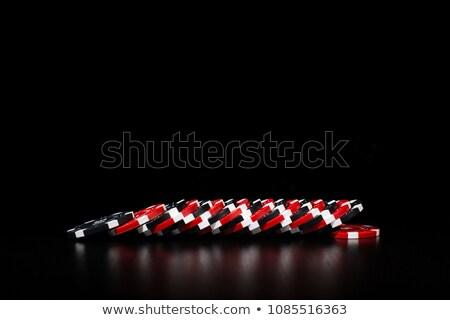 Póker zsetonok asztal kaszinó kék játék játék Stock fotó © wavebreak_media