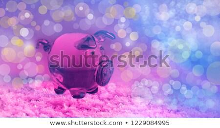 Purple gift box close-up with blurred abstract background  Stock photo © rozbyshaka