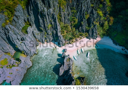 beautiful scenery in el nido palawan philippines stock photo © tommyandone