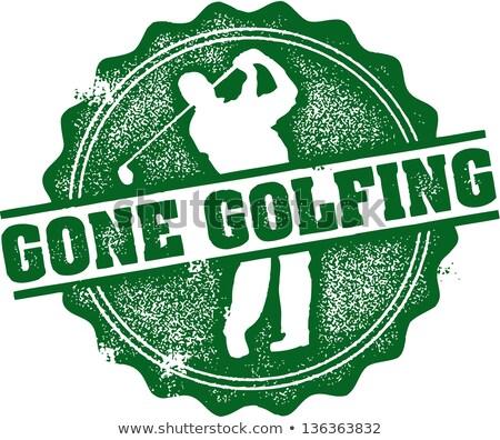 ゴルフをする スタンプ スタイル グラフィック ストックフォト © squarelogo