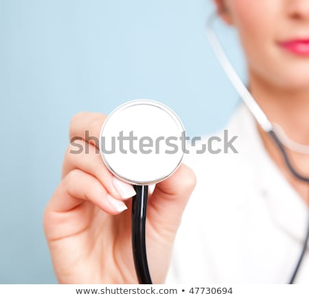 macro shoot of medical person for health insurance or hospital stock photo © hasloo