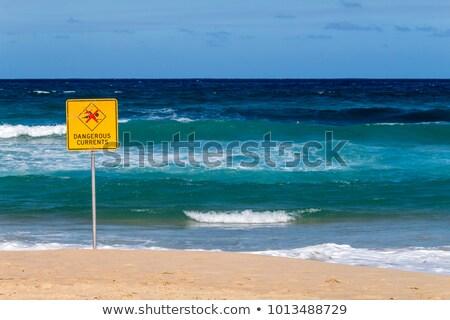 Foto stock: áspero · tempo · praia · Sydney · Austrália · enorme