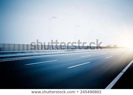 Wazig weg verticaal landschap hemel licht Stockfoto © ixstudio