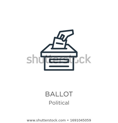Vector icon ballot box Stock photo © zzve