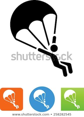 вектора икона парашютом Сток-фото © zzve