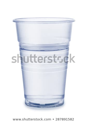 Pur eau potable jetable plastique tasse verre Photo stock © backyardproductions