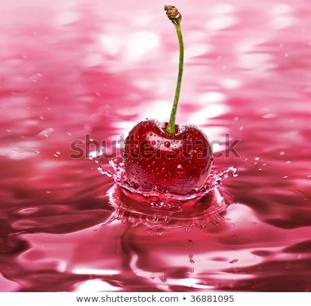 Spatten kers sap wijn splash Stockfoto © Arsgera