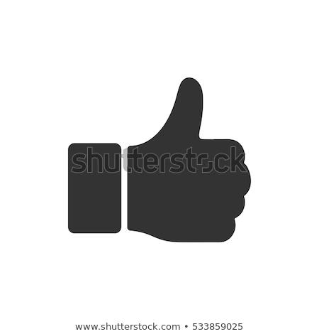 pointant · heureux · souriant · jeune · homme · pouce - photo stock © stocksnapper