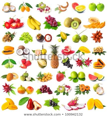Groot hoop vers fruit vers achtergrond zomer Stockfoto © Marfot