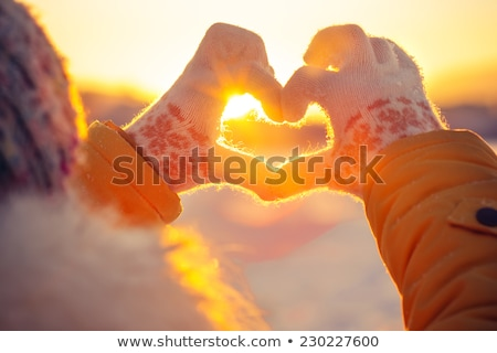 Romantic Winter Girl On Snow  Stock photo © lordalea