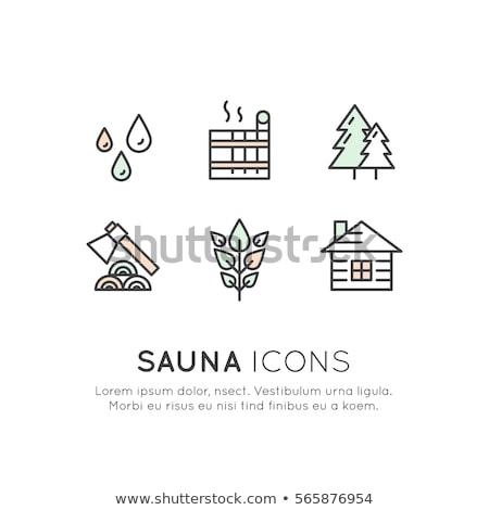 Tűzifa kotlett ikonok fa fém dolgozik Stock fotó © Alegria111