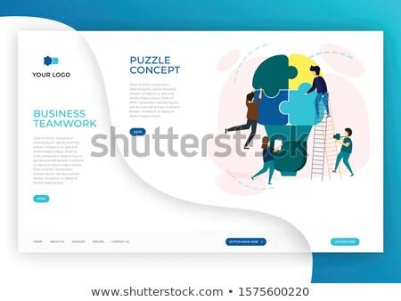 Customize Concept on Blue Puzzle. Stock photo © tashatuvango