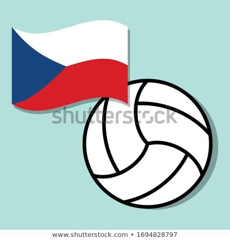 tsjechisch · volleybal · team · geïsoleerd · Blauw - stockfoto © bosphorus