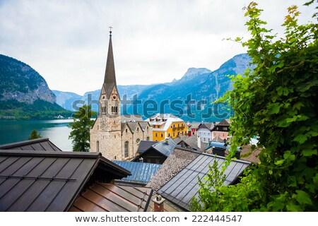 View of Hallstatt Christuskirche church bell tower Stock photo © pixachi