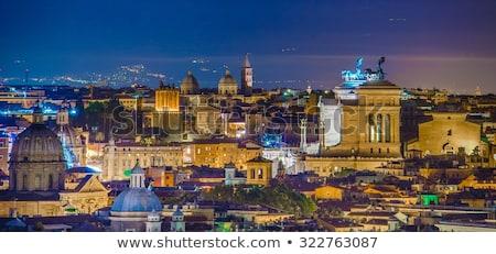 Roma Itália noite mausoléu azul crepúsculo Foto stock © joruba