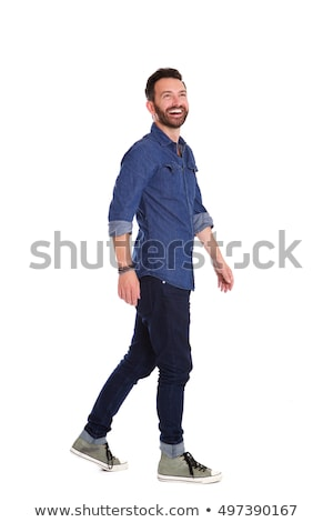 full body of a relaxed man looking away Stock photo © feedough