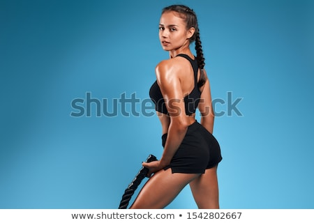 beautiful back of athletic woman Stock photo © ssuaphoto