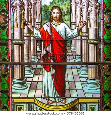 Christ in stained glass Stock photo © elvinstar