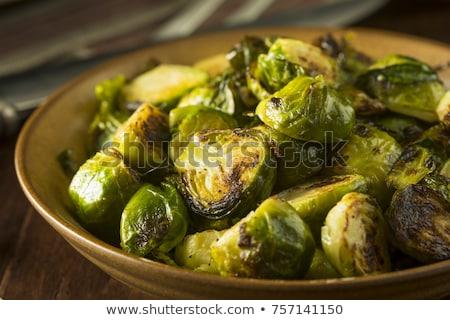 Brussel groene plantaardige maaltijd schotel Stockfoto © saddako2