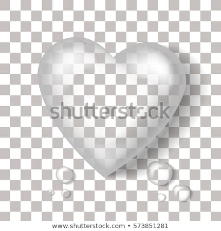 Stock photo: Glass Heart Collection