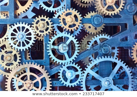 Set of abstract steel wheel cogs  Stock photo © impresja26
