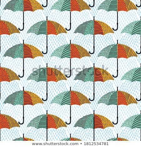seamless background with colorful umbrellas stock photo © elmiko