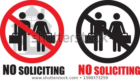 No Soliciting Stock photo © songbird