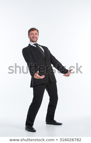 Businessman - invisible load Stock photo © dgilder