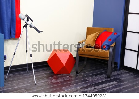 Classic Room Interior With Luxury Furniture And Telescope Stock photo © vizarch