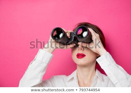Engraçado empresária retrato tocante óculos negócio Foto stock © pressmaster