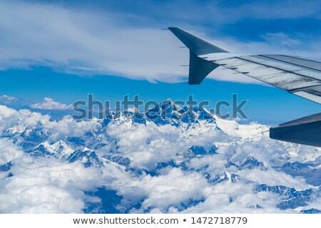 表示 · 平面 · 飛行機 · 翼 · 青空 · 雪 - ストックフォト © smithore