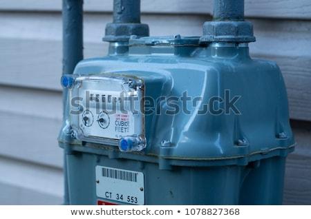 gaz · kırmızı · duvar · kış · sanayi · güç - stok fotoğraf © smuki