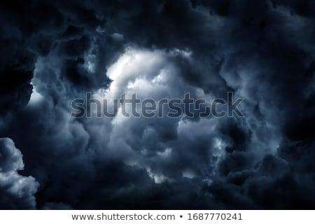 Strahlen · Sonnenschein · Wolken · dunkel · Zeichen · Sturm - stock foto © mikko