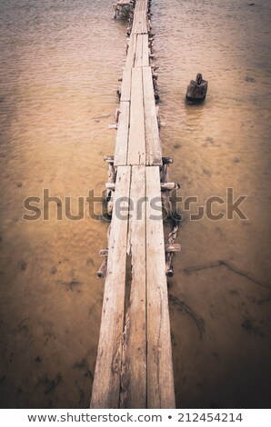 wood brigde water in the Reservoir Stock photo © sweetcrisis
