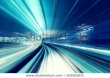 trem · noite · Tóquio · cidade · abstrato · tecnologia - foto stock © melpomene