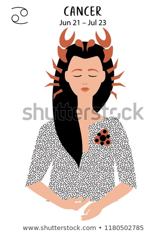 Zodiak horoskop podpisania raka piękna dziewczyna niebo Zdjęcia stock © BlueLela