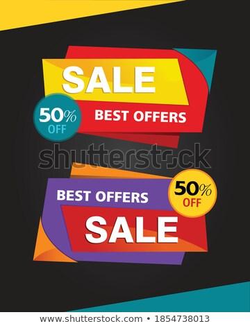 аннотация множественный красочный продажи тег торговых Сток-фото © pathakdesigner