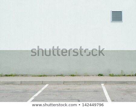 Gray Door in a Cement Wall stock photo © rhamm