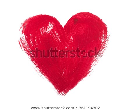 Red acrylic heart Stock photo © gladiolus