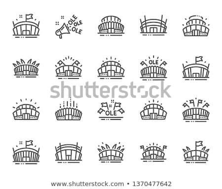 Stok fotoğraf: Stadyum · simge · stilize · spor · takım · diğer