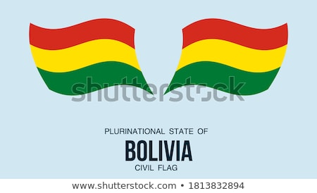 Map on flag button of Plurinational State of Bolivia Stock photo © Istanbul2009