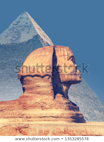 famous ancient egypt sphinx head stock photo © mikko