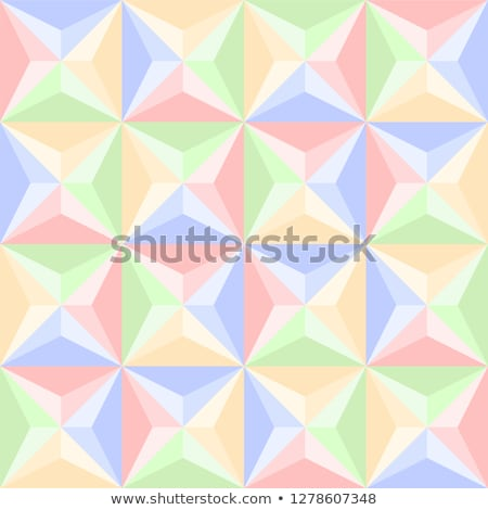 Pastel colors abstract geometric low poly style vector illustration graphic background. Stock photo © mcherevan