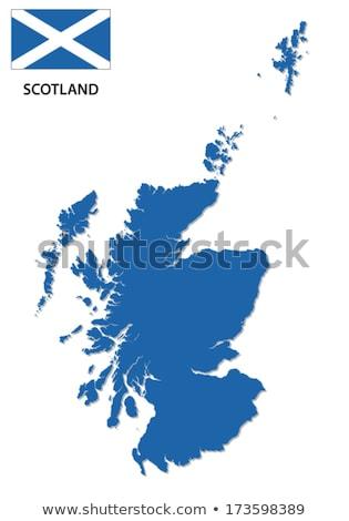 ボタン シンボル 地図 スコットランド フラグ 白 ストックフォト © mayboro1964