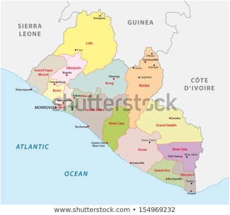 Mapa Libéria detalhado ilustração bandeira eps10 Foto stock © unkreatives