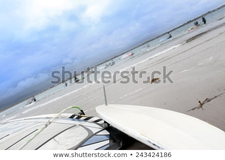 wild Atlantic way windsurfer getting ready to surf Stock photo © morrbyte