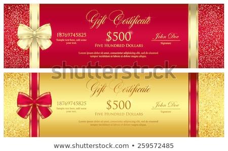 роскошь красный Подарочный сертификат эксклюзивный дизайна Сток-фото © liliwhite